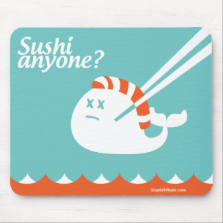 Twitter Mousepad - Stupid Fail Whale - Sushi
