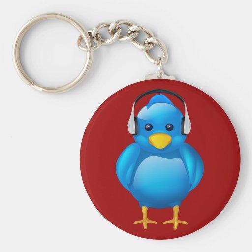 Twitter Music Fan Basic Round Button Keychain