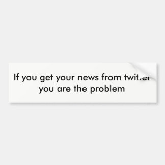 Twitter news bumper sticker