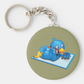 Twitter On The Phone Keychain