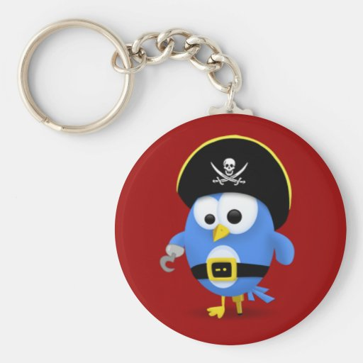 Twitter Pirate Key Chain