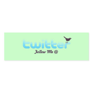 Twitter Profile Card Business Cards