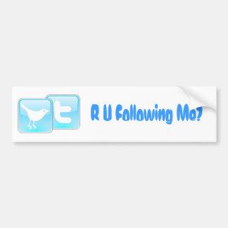 Twitter, R U Following Me? Car Bumper Sticker