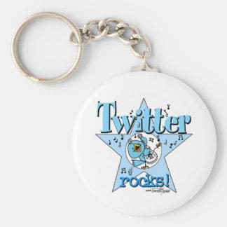 Twitter Rocks keychain