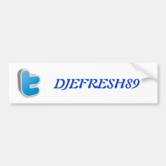 Twitter T logo Car Bumper Sticker