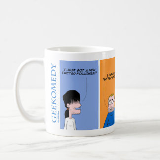 Twitter to follower coffee mug