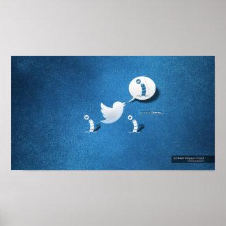 Twitter tweet a worm poster