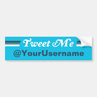 Twitter Tweet Me Folow Me Bumper Sticker Car Bumper Sticker