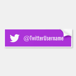 Twitter Username Bumper Sticker Purple Car Bumper Sticker