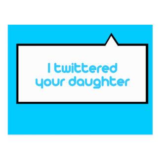 Twittered a su hija tarjeta postal