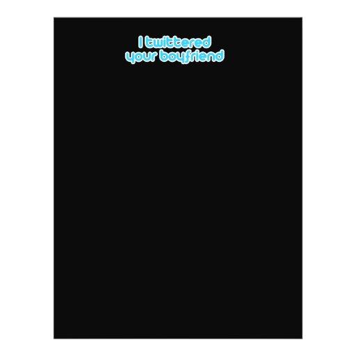 """Twittered a su novio folleto 8.5"""" x 11"""""""