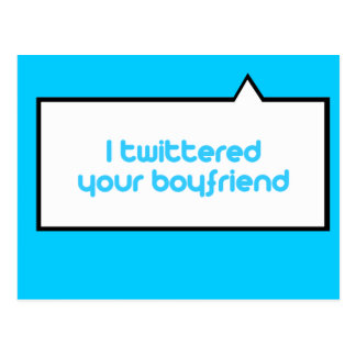 Twittered a su novio postal