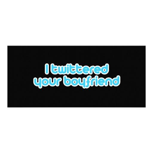 Twittered a su novio tarjetas publicitarias a todo color