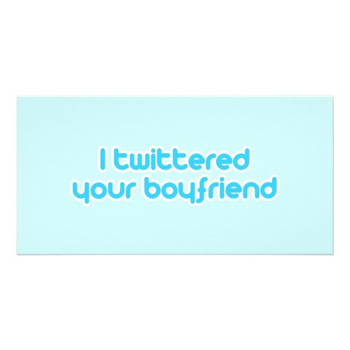 Twittered a su novio tarjetas fotográficas