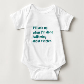 twittering about twitter baby bodysuit