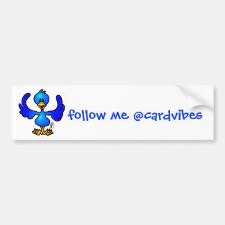 Twittering blue Bird Car Bumper Sticker