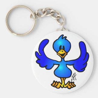 Twittering blue Bird Keychain