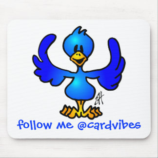 Twittering blue Bird Mouse Pad