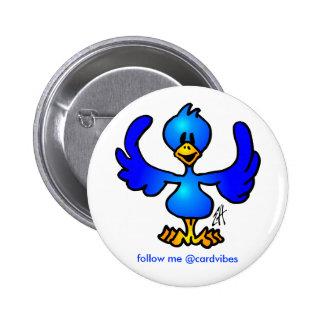 Twittering blue Bird Pinback Button