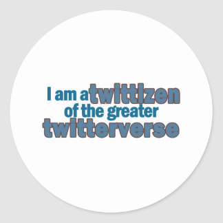 Twitterverse Twittizen Classic Round Sticker