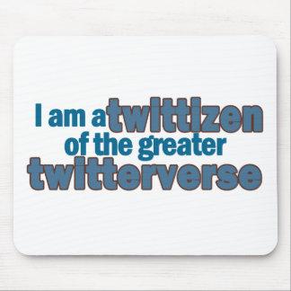 Twitterverse Twittizen Mouse Pad