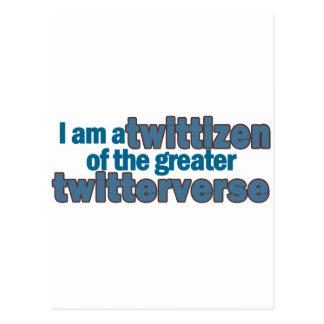 Twitterverse Twittizen Postcard