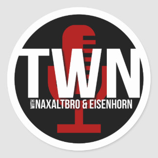 TWN Microphone Badge Classic Round Sticker