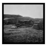 Two 100 Pounder Parrott Guns and Shells 1865 Poster