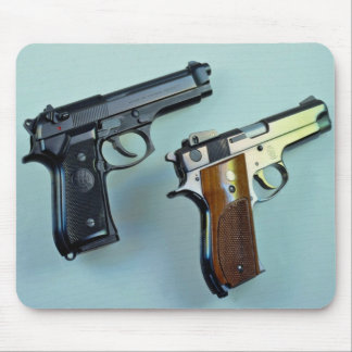 Two .45 caliber automatic guns for gun lovers mouse pad