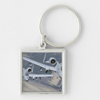Two A-10C Thunderbolt II aircraft fly in format Key Chain