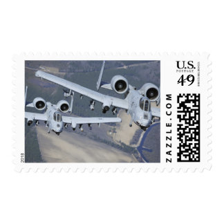 Two A-10C Thunderbolt II aircraft fly in format Postage Stamp