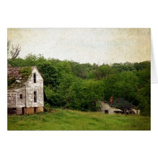 Two Abandoned Rural Missouri Houses Greeting Cards
