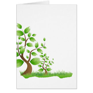 two abstract trees left corner eco design.png card