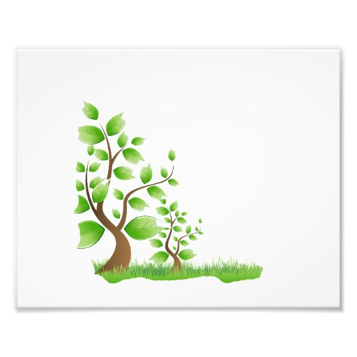 two abstract trees left corner eco design.png art photo