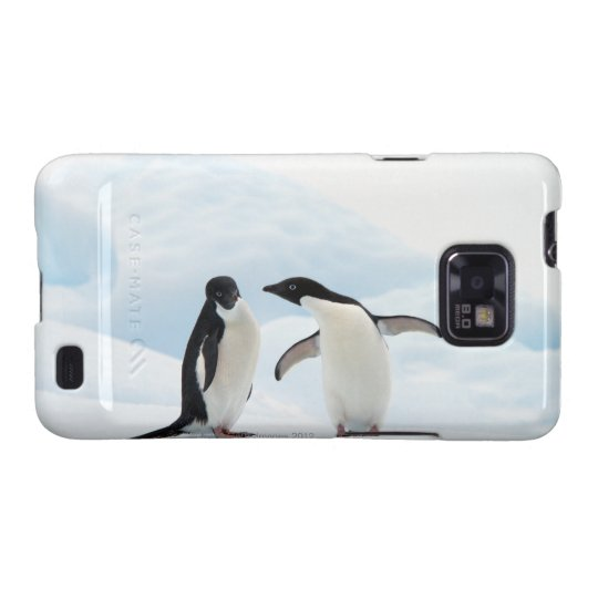 Two Adelie Penguins sitting on a sheet of ice Galaxy S2 Case