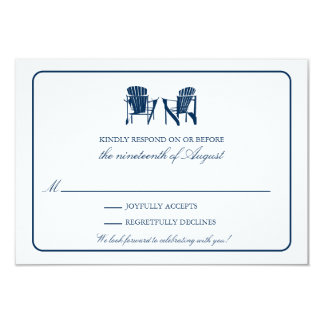 Two Adirondack Chairs RSVP Personalized Announcement