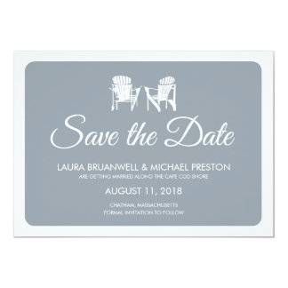 Two Adirondack Chairs Save the Date Personalized Announcement