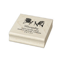 Two Adirondack Chairs Wedding Rubber Stamp