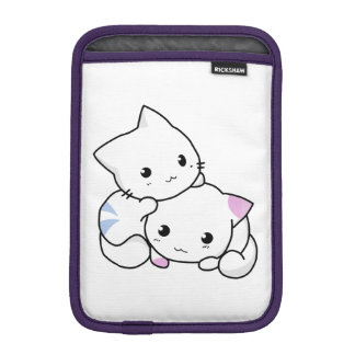 Two adorable baby kittens cuddle together iPad mini sleeve