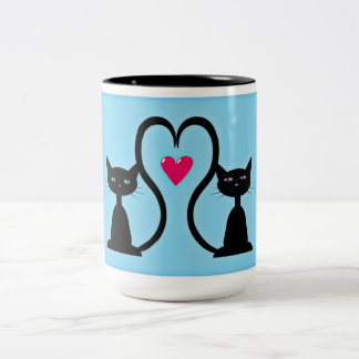 Two Adorable Kittens Two-Tone Coffee Mug