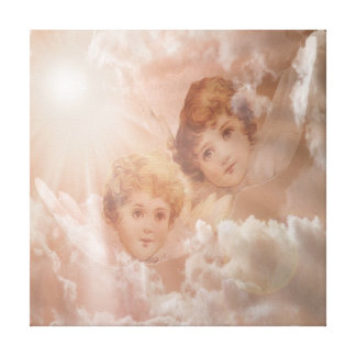 Two Adorable Little Angels Canvas Print