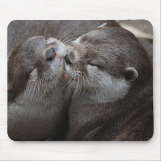 Two Adorable Otters Mouse Pad