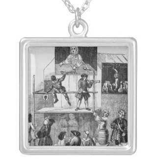 Two Adverts Relating to Faux, the Conjurer Silver Plated Necklace
