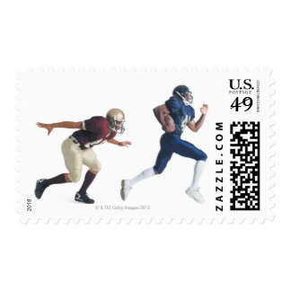 two african american american football players postage stamps