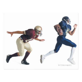 two african american american football players postcard