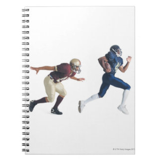 two african american american football players spiral notebook