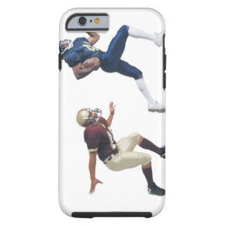 two african american american football players tough iPhone 6 case