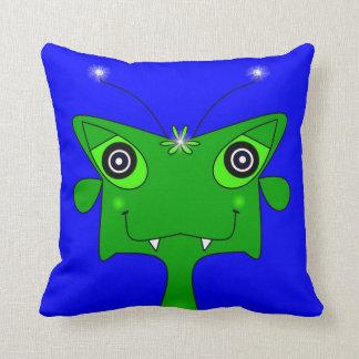 Two Alien Doodles Throw Pillow