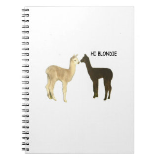 Two Alpaca Crias Meet Spiral Notebook