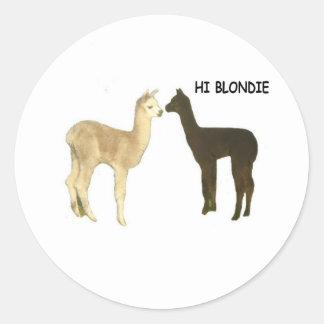 Two alpaca crias meet sticker